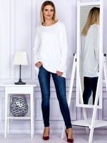 Bluzka damska oversize biała                                  zdj.                                  4