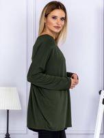 Bluzka damska oversize khaki                                  zdj.                                  5