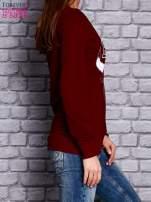 Bordowa bluza z napisem BULLS                                  zdj.                                  3