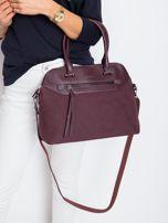 Śliwkowa damska torba z ekoskóry                                  zdj.                                  5