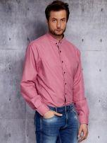 Różowa koszula męska PLUS SIZE                                  zdj.                                  3