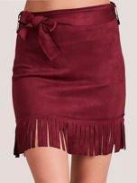 Bordowa spódnica z frędzlami                                  zdj.                                  1