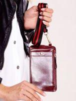 Bordowy portfel i etui na telefon z odpinanym paskiem                                  zdj.                                  6