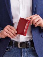 Bordowy skórzany portfel z klapką                                  zdj.                                  2