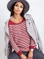 Bordowy sweter Oscar                                  zdj.                                  1