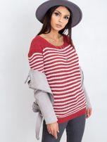Bordowy sweter Oscar                                  zdj.                                  5