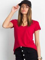 Bordowy t-shirt Square                                  zdj.                                  1