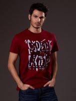 Bordowy t-shirt męski skater                                  zdj.                                  1