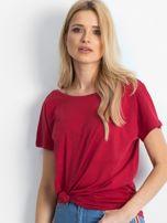Bordowy t-shirt Fire                                  zdj.                                  1