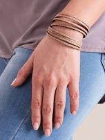 Bransoletka damska typu wrap podwójna złota GLITTER                                  zdj.                                  5