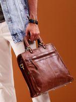 Brązowa skórzana torba męska do ręki                                  zdj.                                  1