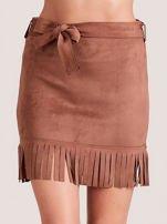 Brązowa spódnica z frędzlami                                  zdj.                                  1