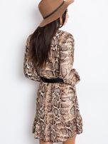Brązowa sukienka Shock                                  zdj.                                  2