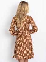 Brązowa sukienka Valentina                                  zdj.                                  2