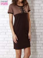 Czarna sukienka ze złotymi guzikami                                                                          zdj.                                                                         1