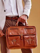Brązowa torba męska z odpinanym paskiem                                  zdj.                                  1