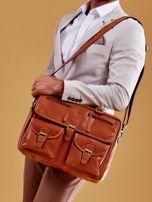 Brązowa torba męska z odpinanym paskiem                                  zdj.                                  10