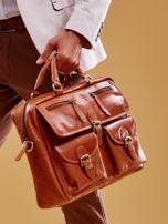 Brązowa torba męska z odpinanym paskiem                                  zdj.                                  7
