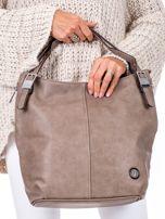 Brązowa torba o plecionej fakturze                                  zdj.                                  2