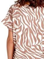Brązowa tunika ze wzorem zebry