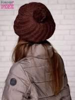 Brązowa wełniana czapka z pomponem                                                                          zdj.                                                                         2