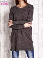 Brązowy długi sweter oversize