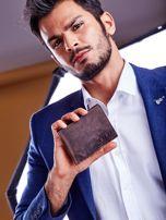Brązowy portfel dla mężczyzny skórzany                                  zdj.                                  2