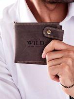 Brązowy portfel męski skórzany z łańcuszkiem                                  zdj.                                  1