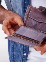 Brązowy portfel męski skórzany z przetarciami                                  zdj.                                  2