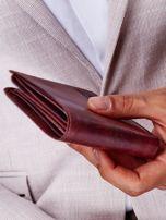 Brązowy portfel męski ze skóry naturalnej                                  zdj.                                  5