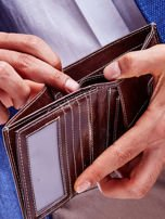 Brązowy skórzany portfel dla mężczyzny cieniowany                                  zdj.                                  2