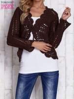 Brązowy sweter z wiązaniem                                  zdj.                                  1