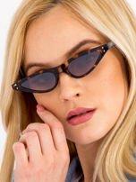 CAT EYE Brązowe damskie okulary przeciwsłoneczne KOCIE OCZY                                  zdj.                                  4
