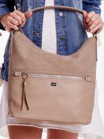 Camelowa torba z łączonych materiałów                                  zdj.                                  2