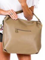 Camelowa torba z ukośnymi suwakami                                  zdj.                                  4