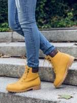 Camelowe buty trekkingowe damskie typu traperki
