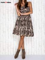 Ciemna moro sukienka na gumkę FUNK N SOUL                                  zdj.                                  4