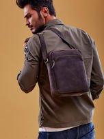 Ciemnobrązowa torba męska skórzana na ramię                                  zdj.                                  6