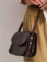 Ciemnobrązowa torebka damska ze skóry naturalnej                                  zdj.                                  2