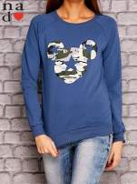 Ciemnoniebieska bluza z nadrukiem moro                                  zdj.                                  1