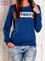 Ciemnoniebieska bluza z napisem ARIGATO                                  zdj.                                  1