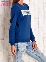 Ciemnoniebieska bluza z napisem ARIGATO                                  zdj.                                  3