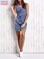 Ciemnoniebieska denimowa sukienka z suwakiem                                  zdj.                                  7