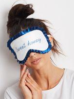 Ciemnoniebieska maska do spania                                  zdj.                                  2