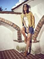Ciemnoniebieska spódnica z efektem dekatyzowania                                  zdj.                                  7