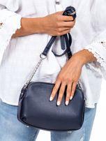 Ciemnoniebieska torba z dzielonymi komorami                                  zdj.                                  4