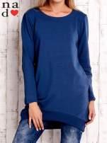 Ciemnoniebieska tunika z kieszeniami                                  zdj.                                  1