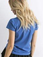 Ciemnoniebieski t-shirt Peachy                                  zdj.                                  2