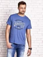 Ciemnoniebieski t-shirt męski z napisem BROOKLYN ATHLETIC UNIVERSITY                                                                          zdj.                                                                         2