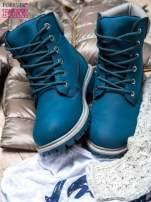 Ciemnoniebieskie buty trekkingowe damskie traperki ocieplane                                                                          zdj.                                                                         2